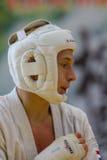 Unión europea KWU del mundo de Kyokushin del campeonato para los niños y la juventud 2017 Imágenes de archivo libres de regalías