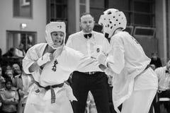 Unión europea KWU del mundo de Kyokushin del campeonato para los niños y la juventud 2017 Imagen de archivo libre de regalías