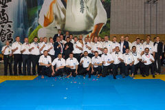 Unión europea KWU del mundo de Kyokushin del campeonato para los niños y la juventud 2017 Fotos de archivo