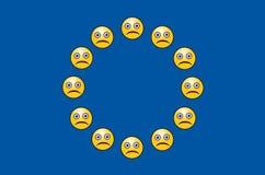 Unión europea preocupada Imagen de archivo libre de regalías