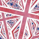 Unión Jack Flag Collage Abstract Fotografía de archivo libre de regalías