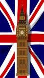 Unión Jack Flag con Big Ben Imagenes de archivo