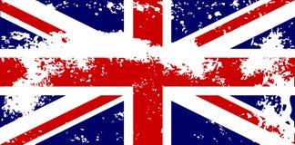 Unión Jack Flag Grunge Imágenes de archivo libres de regalías