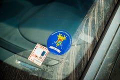 Unión nacional de la señalización de los oficiales de la policía y de aduanas Imágenes de archivo libres de regalías