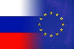 Unión rusa y europea ilustración del vector