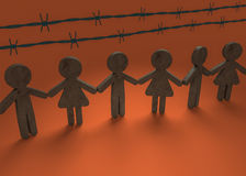 Uni contre le racisme Images libres de droits