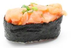 Uni salmon gunkan sushi Royalty Free Stock Image