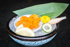 Uni sashimi Arkivfoto