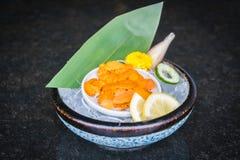 Uni sashimi Arkivbild