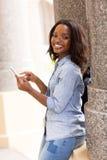 Uni smart telefon för student Arkivfoton