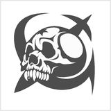 Uni soviet star and USSR skull. Isolated on white Royalty Free Stock Image
