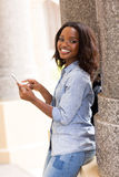 Uni student smart phone Stock Photos