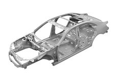 Unibody Car Chassis Stock Photos