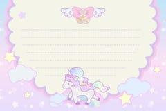 Unicórnio bonito mágico pastel bonito ilustração stock