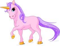 Unicórnio cor-de-rosa bonito Imagens de Stock Royalty Free