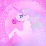 unicórnio cor-de-rosa bonito. Fotos de Stock Royalty Free