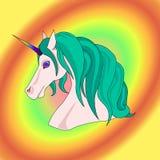 Unicórnio do arco-íris do vetor Foto de Stock Royalty Free