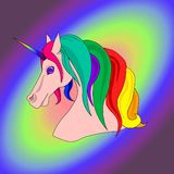 Unicórnio do arco-íris do vetor Imagem de Stock Royalty Free