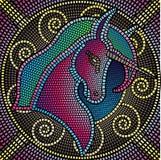 Unicórnio do mosaico Fotos de Stock Royalty Free