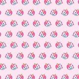 Unicórnio - teste padrão 24 do emoji ilustração do vetor
