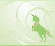 Unicórnio verde da mola Imagem de Stock Royalty Free