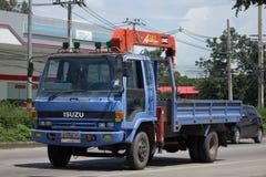 Unic V340 kran på den privata lastbilen Arkivbild