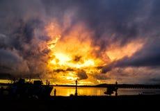 UNICE-Sonnenuntergang Stockbild