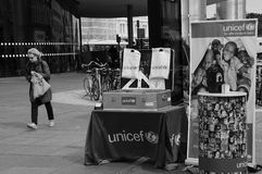 UNICEF IN ACTION GET MEMBERSHIPS Royalty Free Stock Photography