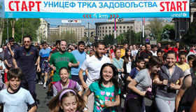 UNICEF Fun Run Belgrade Mrathon,Belgrade Stock Photos