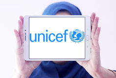 Unicef-Logo Lizenzfreie Stockfotos