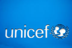 Unicef symbool Stock Foto
