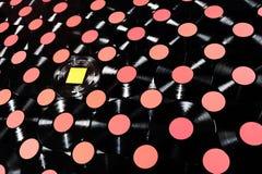 Unicidade - música - coleção dos registros de vinil Fotografia de Stock