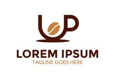 Unico e stia fuori il logo del caffè Illustrazione di vettore editable illustrazione vettoriale