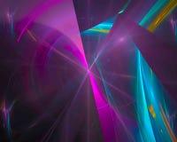 Unico, frattale astratto digitale di caos di forma di effetto, bella fantasia di progettazione illustrazione vettoriale