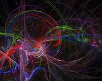Unico, frattale astratto digitale di caos di forma di immaginazione creativa di effetto, bella fantasia di progettazione royalty illustrazione gratis