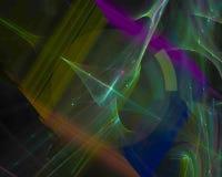Unico, frattale decorativo astratto digitale di caos di forma di immaginazione di effetto, bella fantasia di progettazione royalty illustrazione gratis