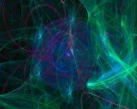 Unico, frattale decorativo creativo di caos di forma di immaginazione dell'estratto digitale di effetto, bella fantasia di proget illustrazione vettoriale