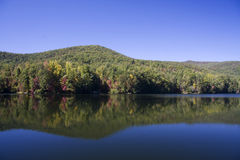 Unicoi Lake in Georgia. In Autumn with Reflections royalty free stock images
