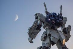 UNICON GUNDAM标度RX-0在Div的流动衣服雕象1:1模型  免版税库存图片