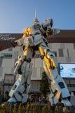 UNICON GUNDAM标度RX-0在Div的流动衣服雕象1:1模型  图库摄影