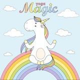 2018 04 02_unicorn γιόγκα ελεύθερη απεικόνιση δικαιώματος