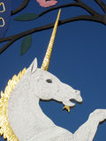 Unicorn. Mythological figure from the Queen Mother's Gate in Hyde Park, London Royalty Free Stock Photo
