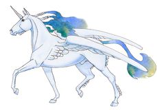 unicorn vektor illustrationer