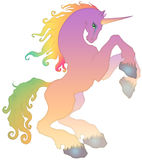 Unicorn. A beautiful fantasy digital and colorful fairy tale horse Stock Image