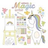 2018.03.31_unicorn artist vector illustration
