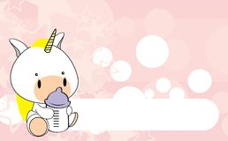 Unicorn baby cartoon background1 Royalty Free Stock Photos