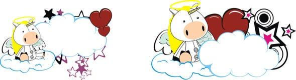 Unicorn baby cute angel cartoon cloud set. Unicorn baby cute angel cartoon cloud in vector format stock illustration