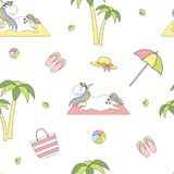 2018 04 25_unicorn beach_P2 stock illustrationer