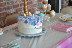 Unicorn Birthday Cake Immagine Stock Libera da Diritti