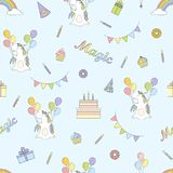 2018 04 26_unicorn birthday_P2 illustrazione di stock